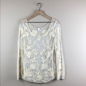 Everleigh Snowblossom Sheer Lace Top (Small)
